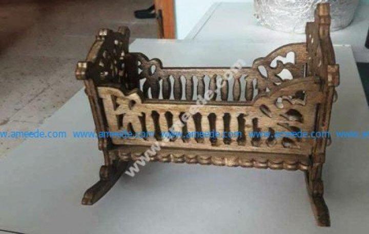 Baby Crib, Rocking Cradle Template
