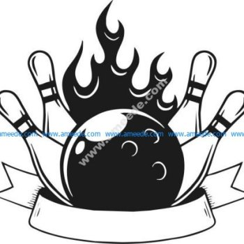 Bowling sport icon