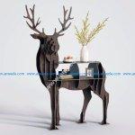 Deer Bookcase Shelf