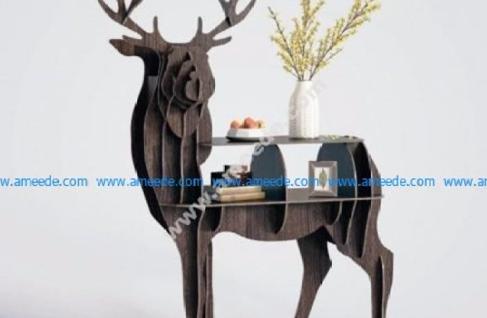 Deer Bookcase Shelf