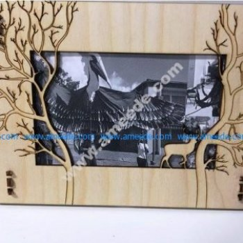 Deer Photo Frame Template