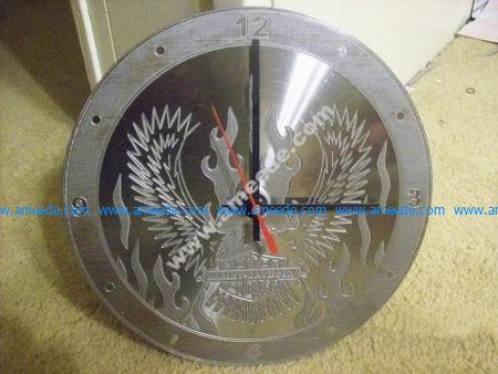Eagle Engrave Clock