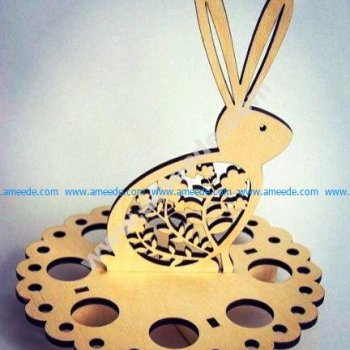 Easter Egg Bunny Holder
