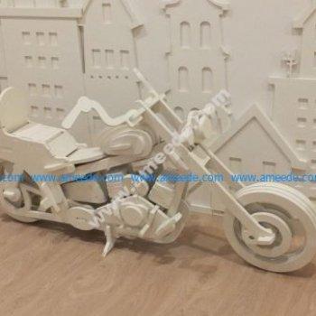 Large model of motorcycle model laser cutting model