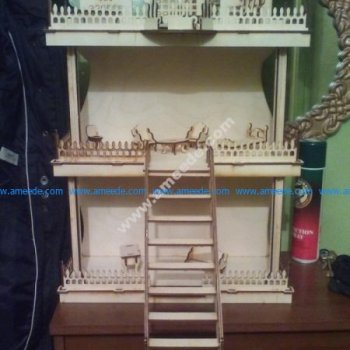 Laser Cut Dollhouse