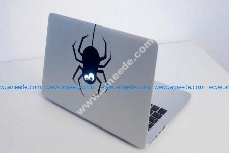 Laser Cut Laptop Sticker Spider