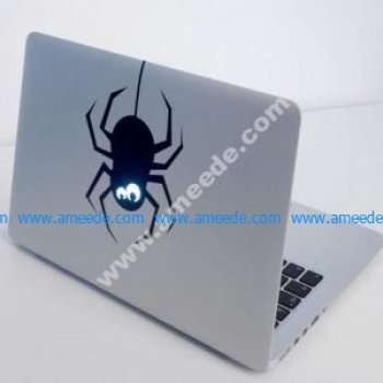 Laser Cut Laptop Sticker Spider