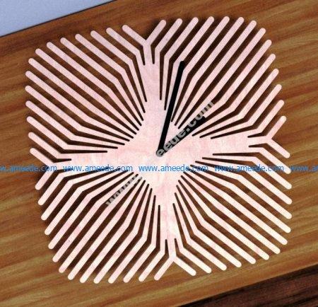 Laser Cut Pattern Clock
