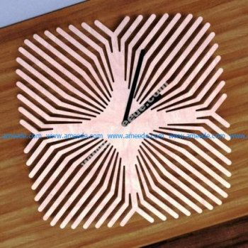 Laser Cut Pattern Clock