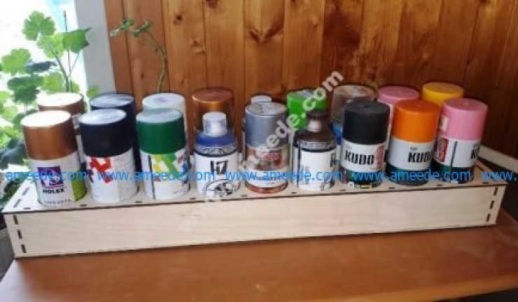 Laser Cut Storage Rack for Spray Cans