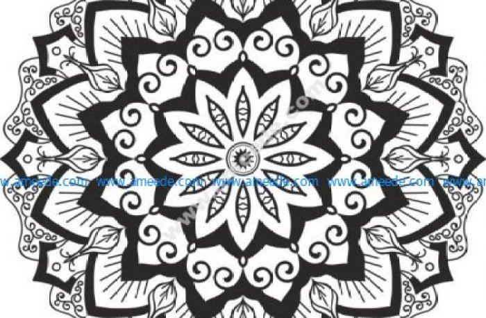 Mandala Cut Design