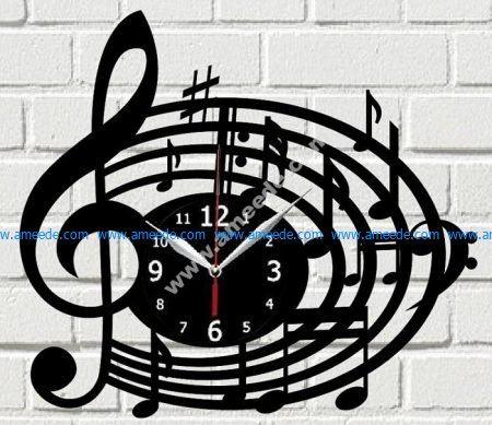 Melody Clock Laser Cut
