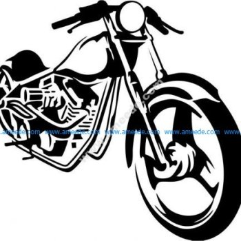 Motobike travel vector