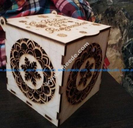 Plywood Gift Box Laser Cut