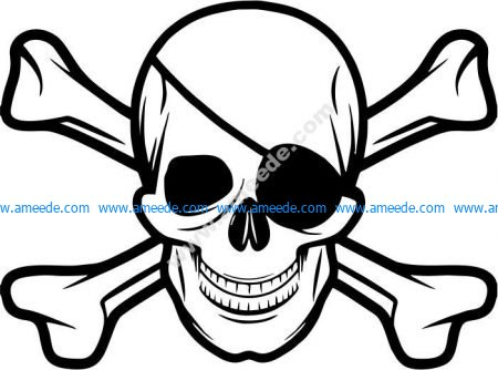 Typical symbol of pirates