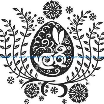 White rabbit pattern