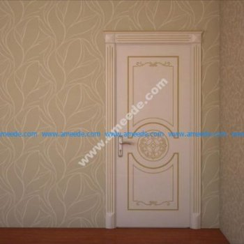 Wooden Panel Room Door Qapi