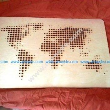 World Map vector laser