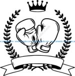 symbol of boxing sports champion