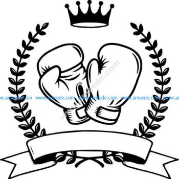 symbol of boxing sports champion