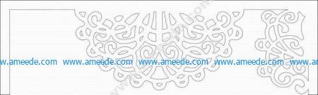 cnc cut curtain motifs