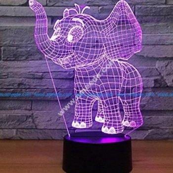 3d Elephant Illusion Led Lamp