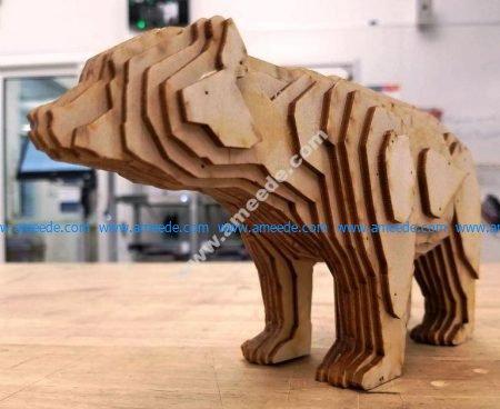 3d bear jigsaw