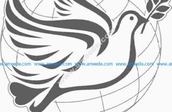 3d illusion light bird wing peace