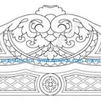 CNC cutting bed headboard design