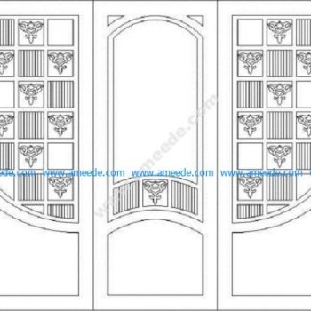 Designs Doors for Cutting in CNC