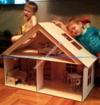 Doll House With Furniture 6mm
