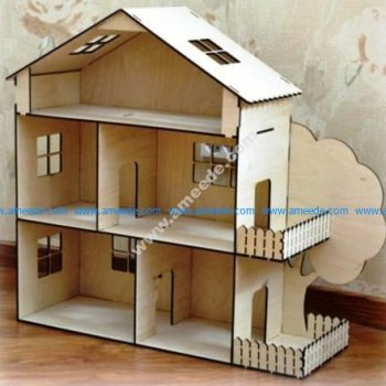 Dollhouse Kit Laser Cut Template 4Mm