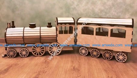 Gift wrap Locomotive Template