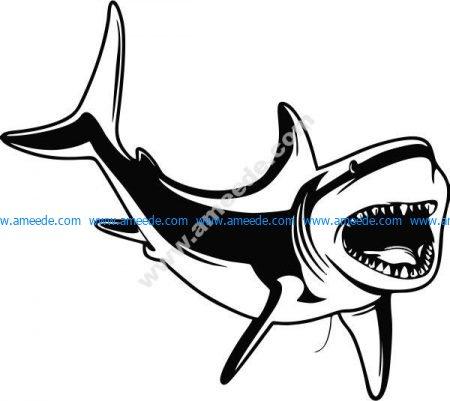 Great white shark in the ocean