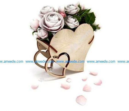 Heart shaped flower vase