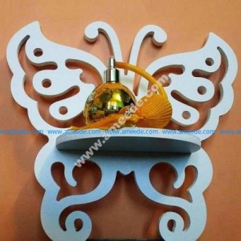 Laser Cut Butterfly Wall Shelf Rack