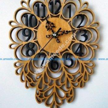 Leaf shaped clock
