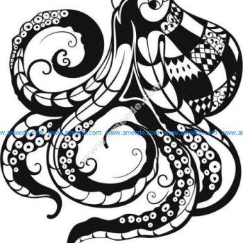 Octopus drawing Vectors