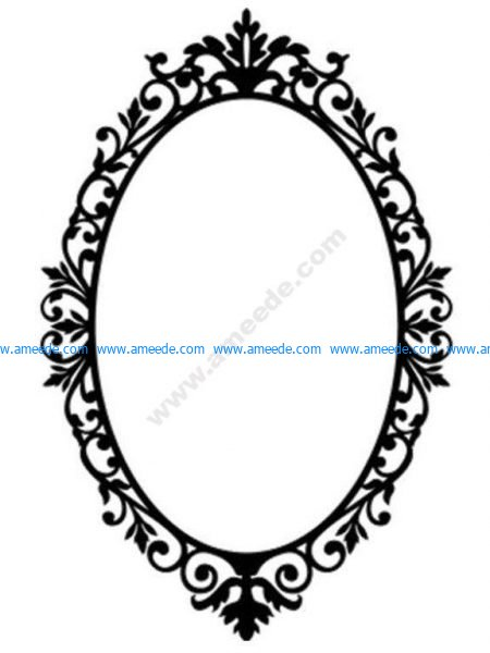 Ornate Oval Frame Wall