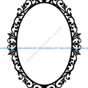 Ornate Oval Frame Wall