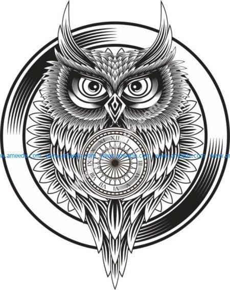Owl Clock Ornament
