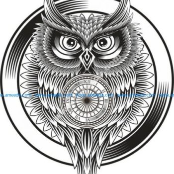 Owl Clock Ornament
