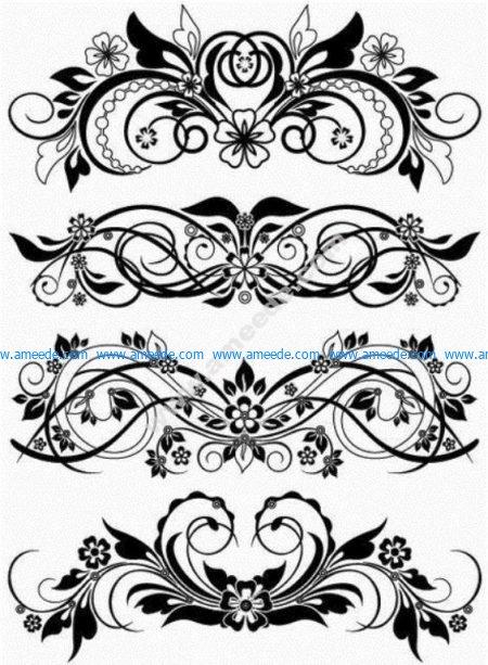 Vector Floral Ornaments