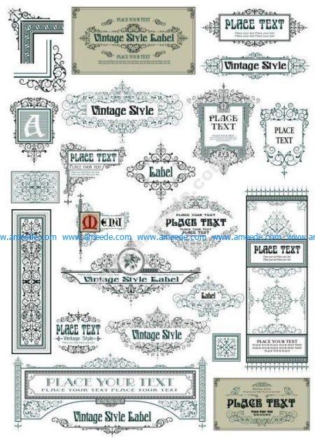 Vintage Vector Label