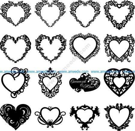 Wedding decoration heart