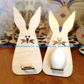 Wooden Easter Bunny Template 3mm