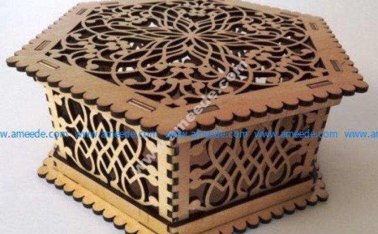 box of patterned patterns
