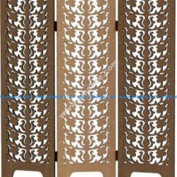 Art deco screen panel