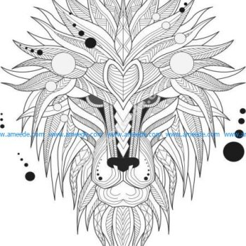pattern of lion head