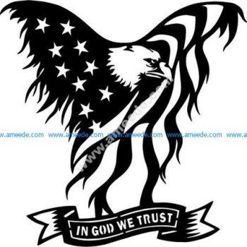 symbolic eagle of America